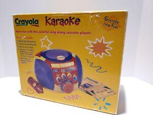 CRAYOLA portable karaoke cassette player. New in Box