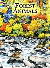 Adult Coloring Books Animal Forest Art Design Pattern Painting Stress Relax Kids