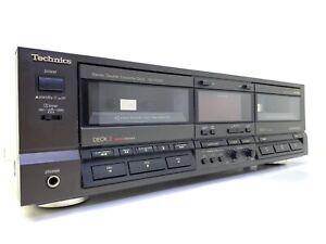 TECHNICS RS-TR355 Auto Reverse Double Cassette Deck Vintage 1989 Workin Like New