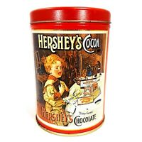 "Vintage 1989 Hershey's Cocoa Bitter Sweets Chocolate 6"" Collectible Tin Canister"