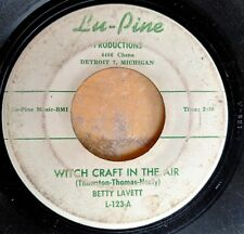 R&B SOUL HALLOWEEN 45: BETTY LAVETT Witch Craft in the Air/You Killed the Love