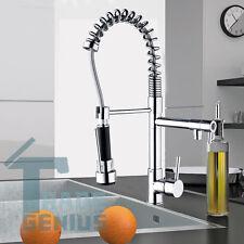 US Kitchen Pull Down Faucet Modern Copper Sink Chrome Swivel Mixer Taps Bath