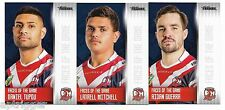 2017 NRL Traders Faces of the Game ROOSTERS 3 Card Set