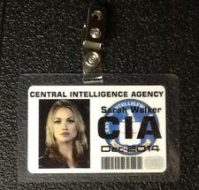 Chuck TV Series ID Badge-CIA Sarah Walker prop costume cosplay