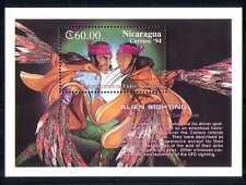 Nicaragua 1994 Aliens avistamiento/espacio/Sci-fi m/s n27397