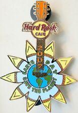 Hard Rock Cafe ONLINE 2007 EARTH DAY PIN Sunflower GUITAR - HRC Catalog #37094