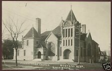 BEATRICE, NE PHOTO POSTCARD RPPC Presbyterian Church Gale Photo