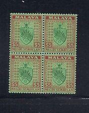 MALAYA NEGRI SEMBILAN 1935 block/4 MNH read desc