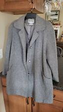 Cabin Creek Ladies Size 16 Gray Wool Pea Coat Jacket