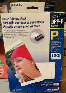 Sony SVM-F120P Color Print Pack DPP-F Brand New Sealed 120 Post Card Prints NIB