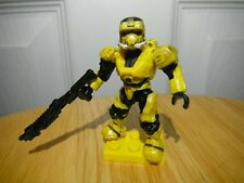 Halo Mega Bloks Series 7 UNSC Yellow Spartan EOD w shotgun and lego base plate