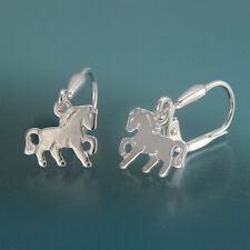 Kinder Ohrringe Pferd echt Silber 925/-