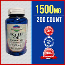 Krill Oil Capsules (HIGH-1500MG) Omega-3 Fatty Acids - EPA -DHA - Astaxanthin