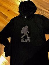 Bigfoot Sasquatch Nailhead Black Long Sleeve T-Shirt Hoodie size Xlarge Xl