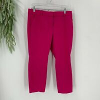 J.Crew Womens Cafe Capri Chino Pants Cropped Pink Size 8 Cotton Blend Stretch