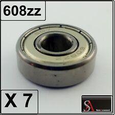 7 pezzi Cuscinetto a sfere 608zz , cuscinetti sfera , bearing 8 X 22 X 7 mm