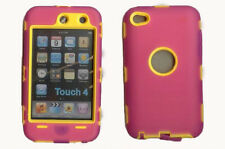Best Protection Case / Cover for iPOD TOUCH 4 HOT PINK / YELLOW Free Stylus!!!