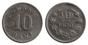 e979 ROMANIA 10 bani 1900 – UNC mint luster