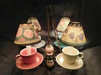 ONE OF A KIND Fiesta Fiestaware Cup Saucer Dining Hanging Lamp Light Alice Rare
