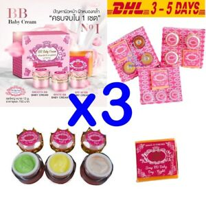 Pack 3 Boxes 6x12g. BB Baby Facial Cream Clear Reduce Protect Control Skin Care