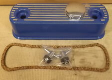 CLASSIC MINI ALLOY ROCKER COVER KIT - FITS ALL A SERIES ENGINES - BLUE - RC1K