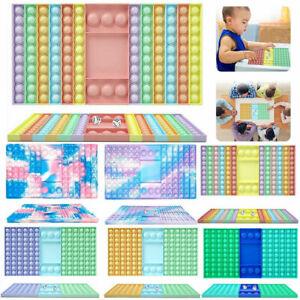 Big Popper Game Rainbow Chess Board Push it Bubble Fidget Sensory Toys Games
