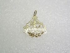 #1 GRANDMA ORNATE FLORAL PENDANT IN 14K YELLOW GOLD N355-K
