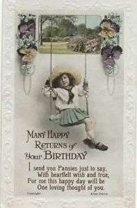 BIRTHDAY - Girl On Swing - 1924