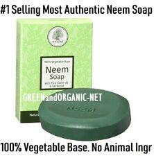 AUTHENTIC NEEM SOAP Bar BATH Body Skin Acne Pimples Vegetarian Base Vegan Halal