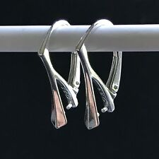 925 Sterling Silver Plated W/ Rhodium (Tarnish Free) Leverback Earring Findings