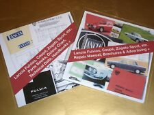 2 x CDs Lancia Fulvia Coupé & Zagato Parts Tec HB Colour Repair Manual Ads etc.