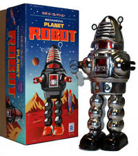 Planet Robot Chrome Tin Toy Windup Schylling Robby the Robot