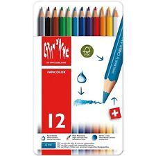 Caran d'Ache Fancolor Color Pencils, 12 Colors
