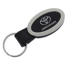 Toyota Highlander Oval Leather Key Chain Black Fits 1985 Supra