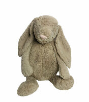 Jellycat London Floppy Bunny Rabbit Plush Pink Nose Tan Beige Bashful Soft 20""