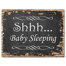 PP0535 Baby Sleeping Plate Chic Sign Home Baby Room Interior Decor sign