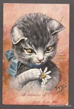 "SIGNED ARTIST ARTHUR THIELE CAT POSTCARD ""I WONDER IF YOU LOVE ME"""