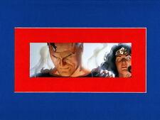 KINGDOM COME SUPERMAN & WONDER WOMAN PRINT PROFESSIONALLY MATTED Alex Ross art