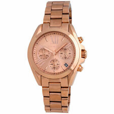 Michael Kors Mini Bradshaw Rose Gold Chrono Stainless Steel MK5799 Women's Watch