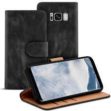 Bookstyle Tasche für Samsung Galaxy S8 Hülle Case Flip Handy Schutzhülle Schwarz