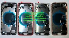 iPhone 8 8 Plus X XS XS Max XR Back Rear Glass Frame Battery Door Housing W/LOGO