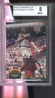 1992-93 Topps Stadium Club #247 Shaquille O'Neal ROOKIE RC BGS 8 Graded Card