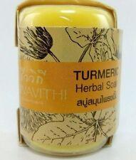 Turmeric herbal soap bar body bath for sensitive skin natural spa thai best care