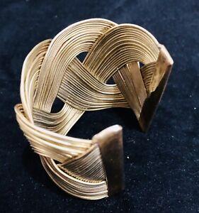 Brass Tribal/ Celtic Knot Style Cuff Bracelet Quirky Folk Boho Hippie