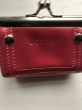 LORENZ PINK LEATHER SMALL COIN PURSE BNNT