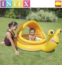 Piscina hinchable para niños con Sombrilla INTEX Caracol Playa