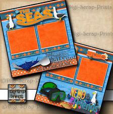 Disney Epcot The Seas Nemo & Friends ~ 2 premade scrapbook pages Digiscrap A0356