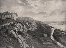 FOLKESTONE. The Lees. Kent 1900 old antique vintage print picture