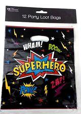 36 boys SuperHero PARTY BAG LOOT BAGS empty birthday Set large KIDS CHILDREN