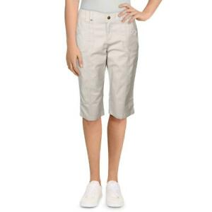 Lee Womens Beige Relaxed Fit Mid Rise Bermuda Skimmers Petites 6P BHFO 7774